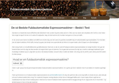 fuldautomatisk-espressomaskine.dk